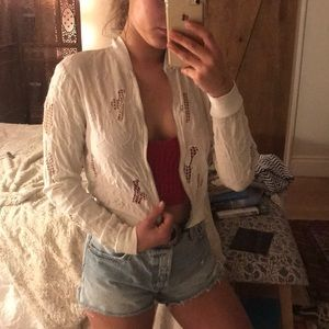 Urban Outfitters Jackets & Coats - Urban outfitters white bomber jacket